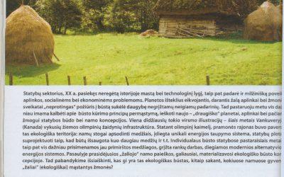 """Straipsnis apie ekologiškus namus """"Green"""" žurnale """"Kur gyvena """"žali"""" žmonės?"""""""
