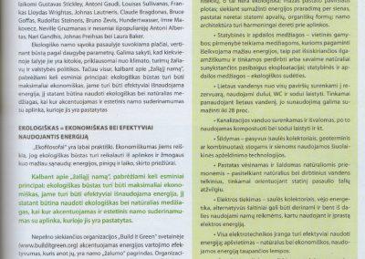ekologisku namu projektai straispnis reali erdve 3a architeke Svajone Pociene