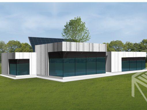 """A, A+ klasės namo projektas """"Saulės namas IV"""""""