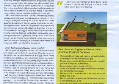 ekologisku namu projektai straispnis reali erdve 1a architeke Svajone Pociene