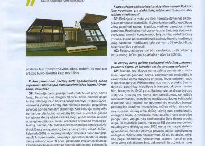 ekologisku namu projektai straispnis reali erdve 1b architeke Svajone Pociene