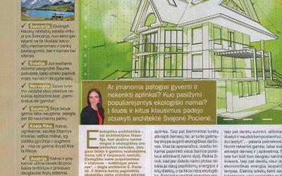 """Straipsnis žurnale """"Ji"""" apie ekoarchitektūrą """"Ekologiški namai"""""""
