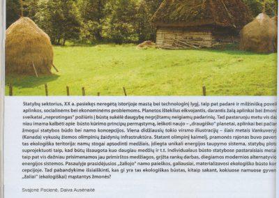 ekologisku namu projektai straispnis reali erdve 3 architeke Svajone Pociene