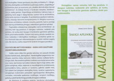 ekologisku namu projektai straispnis reali erdve 3c architeke Svajone Pociene