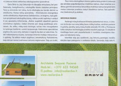 ekologisku namu projektai straispnis reali erdve 3e architeke Svajone Pociene