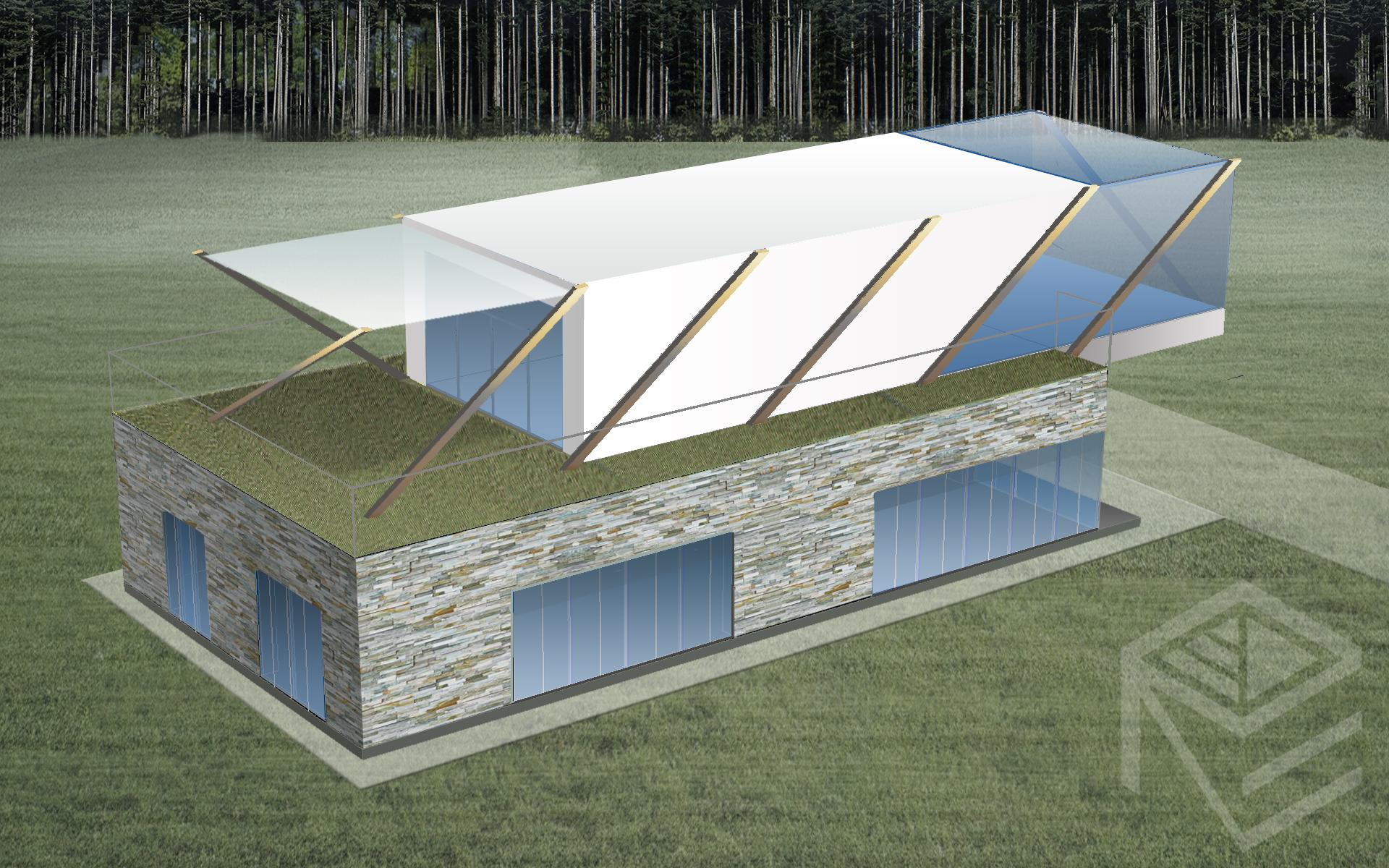 Architektes Svajones Pocienes projektas Tensegrity 1