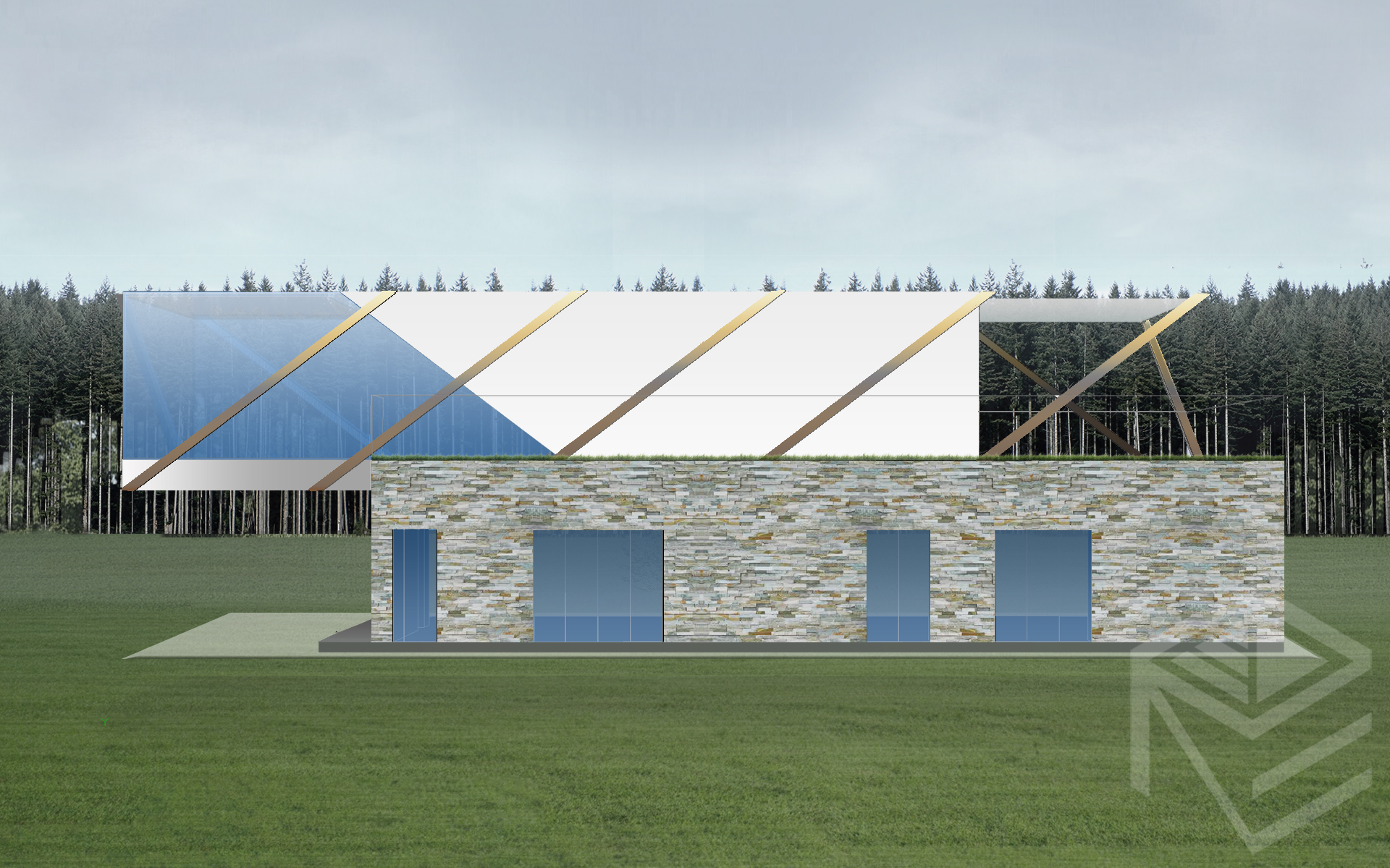 Architektes Svajones Pocienes projektas Tensegrity 2