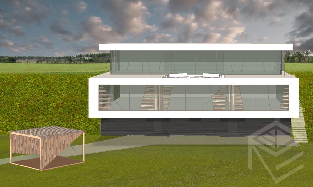 Archtekte Svajone Pociene projektas Namas kalvoje 2 b