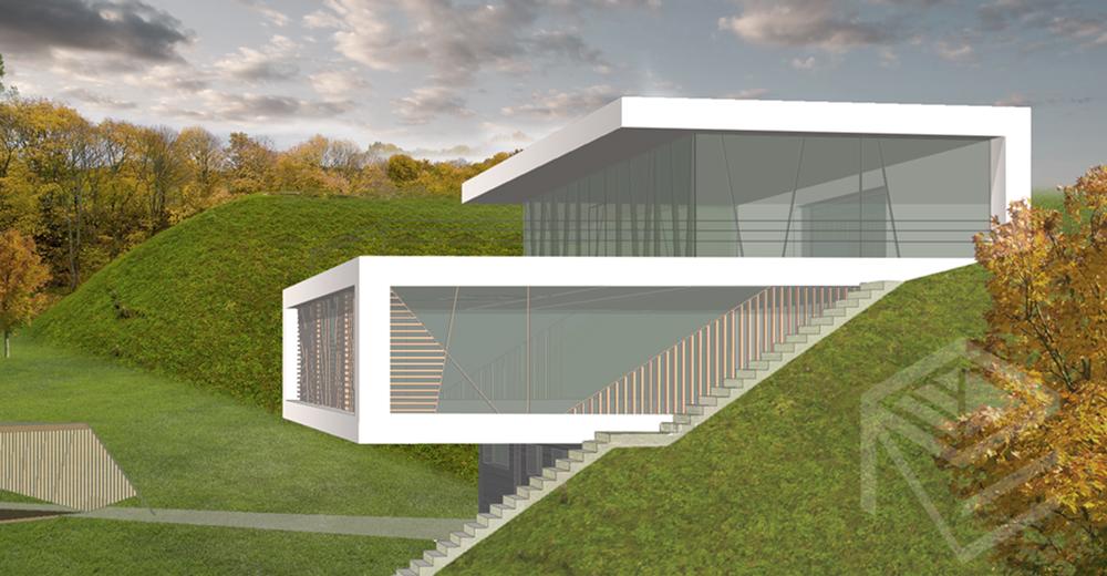 Archtekte Svajone Pociene projektas Namas kalvoje 2